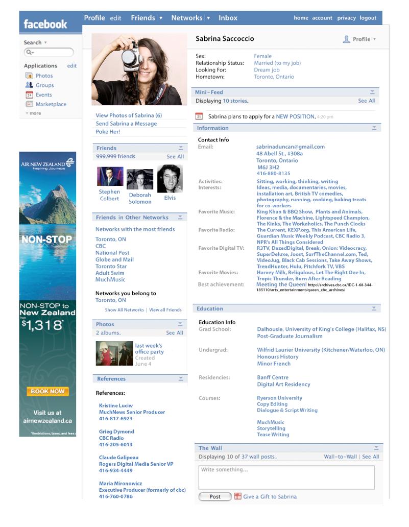 facebook-profile-cv-resume