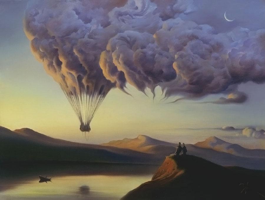 """Ohromující surrealistické malby od """"ruského Salvadora Dalího"""""""