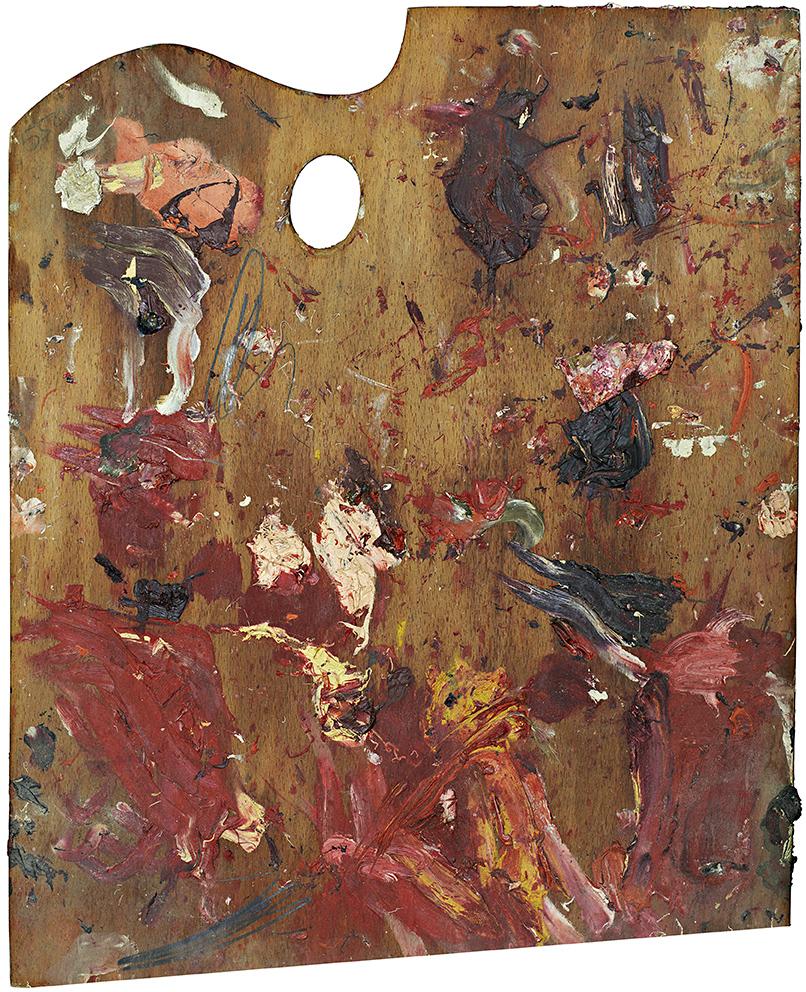 Malířské palety slavných jako odraz jejich umění/malíř