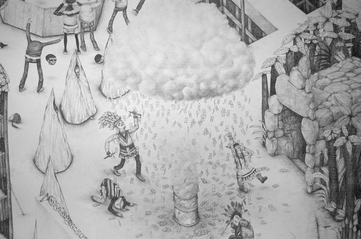 Jérémie Amigo - černobílé kresby