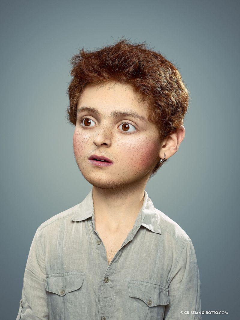 Cristian Girotto - vnitřní dítě, retuš, fotomanipulace, dospělé dítě