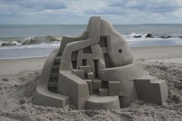 Calvin Seibert - hrady z písku, stavby, architektura