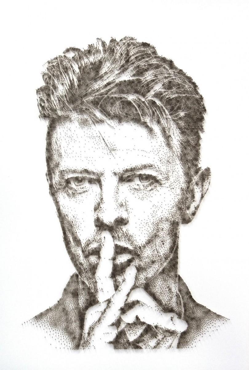 David Foster - Detailní obrazy z hřebíků, David Bowie