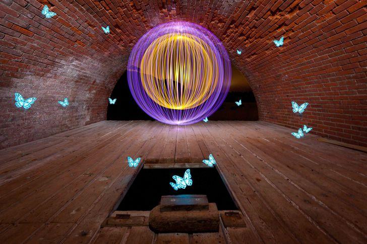 David Gilliver - noční magické malování světlem, dlouhá expozice