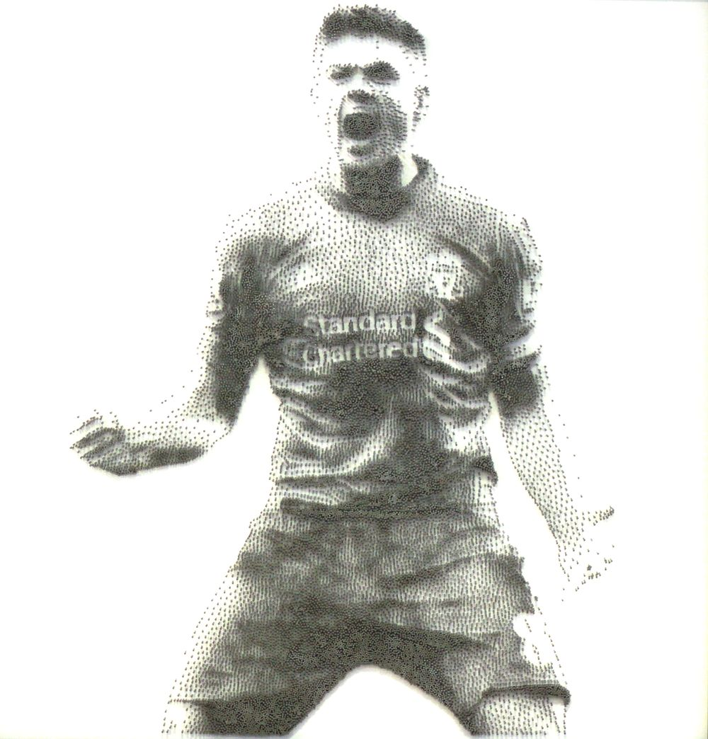 David Foster - Detailní obrazy z hřebíků, fotbal