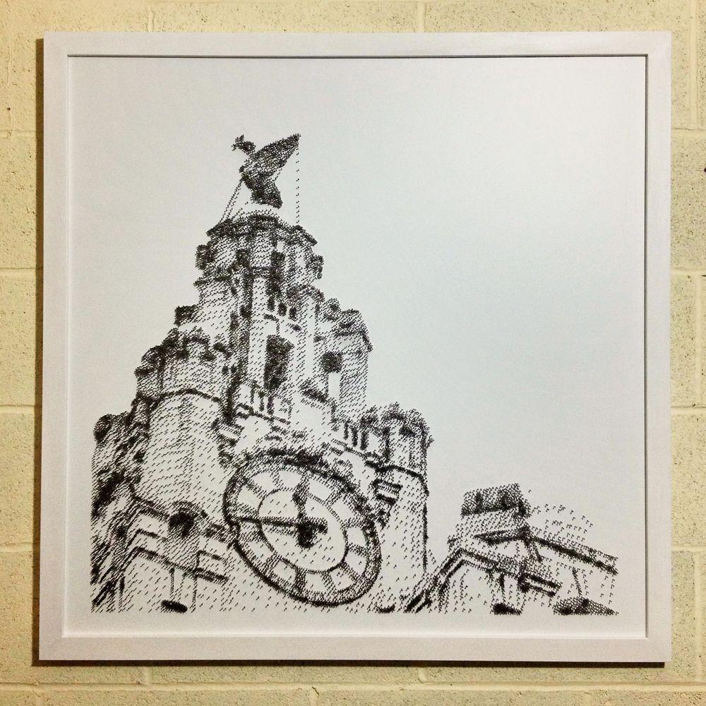 David Foster - Detailní obrazy z hřebíků, Royal Liver Building