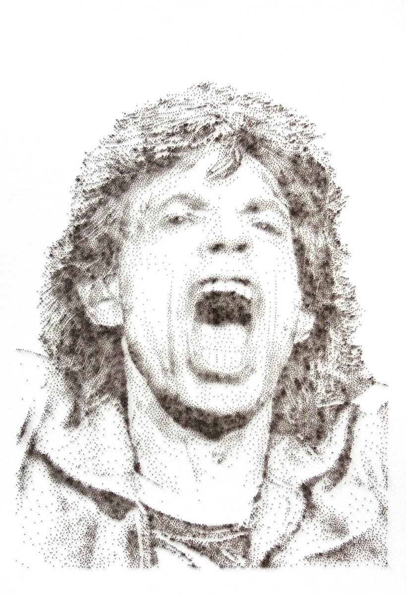David Foster - Detailní obrazy z hřebíků, Mick Jagger