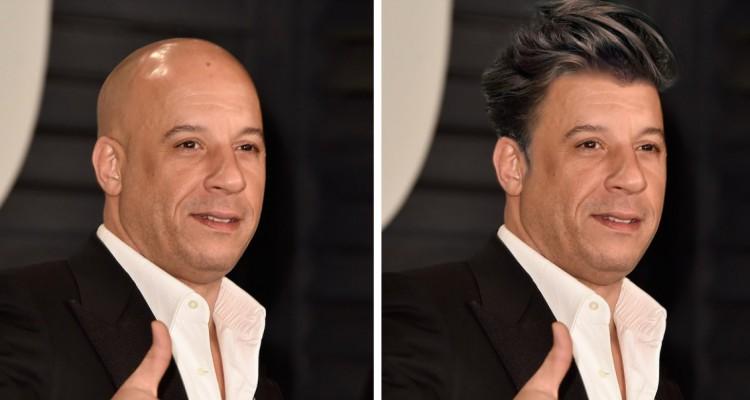Vin Diesel s vlasy