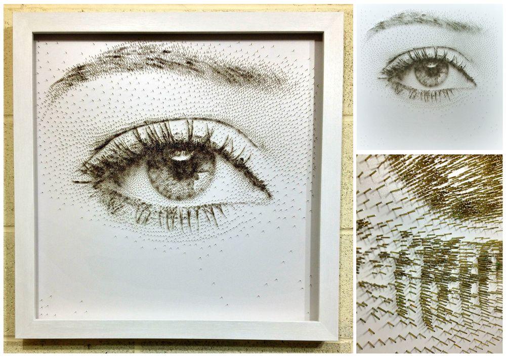 David Foster - Detailní obrazy z hřebíků, oko, řasy