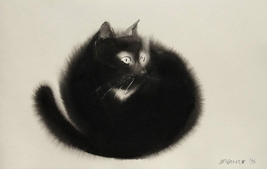 watercolor-cats-ink-paitings-endre-penovac-1