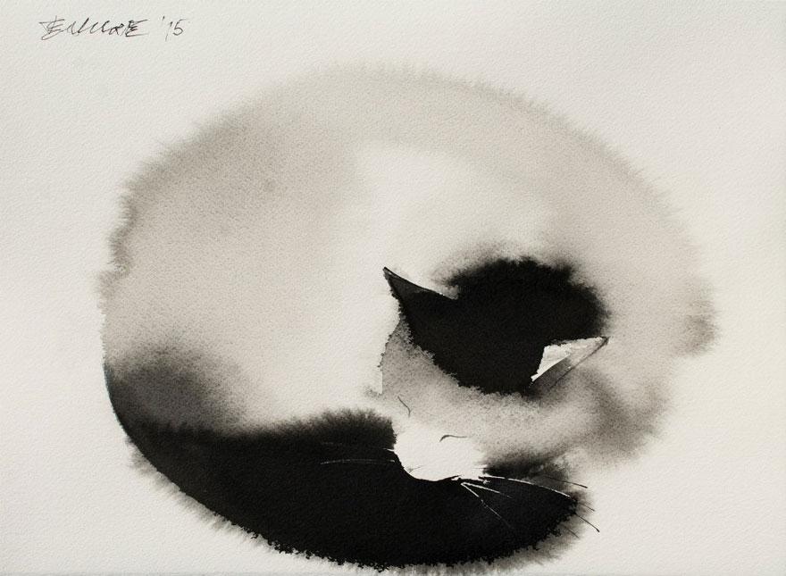 watercolor-cats-ink-paitings-endre-penovac-15
