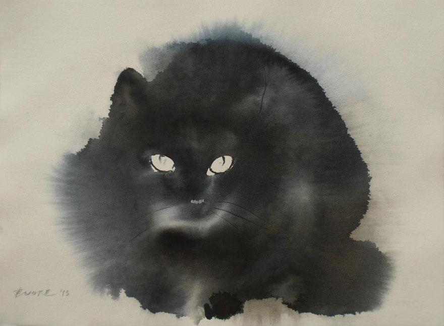 watercolor-cats-ink-paitings-endre-penovac-2