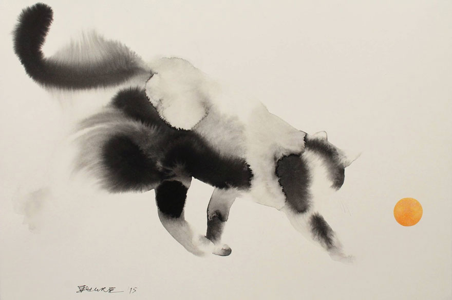 watercolor-cats-ink-paitings-endre-penovac-3
