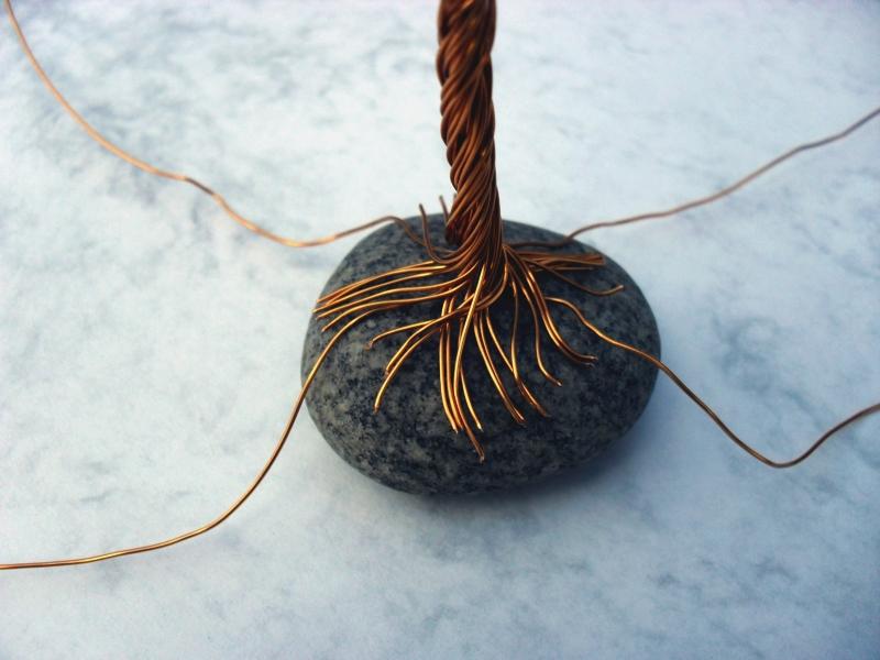 DIY - dekorativní drátěný stromeček štěstí
