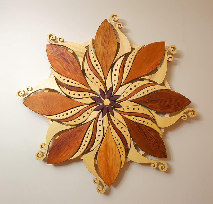 Andy Smith (Garden Elf Creations): Závěsné dřevěné mandaly a symboly