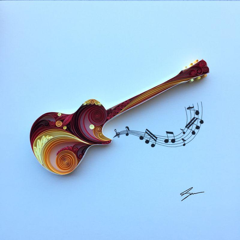 Sena Runa - Quilling, umění krouceného papíru, kytara
