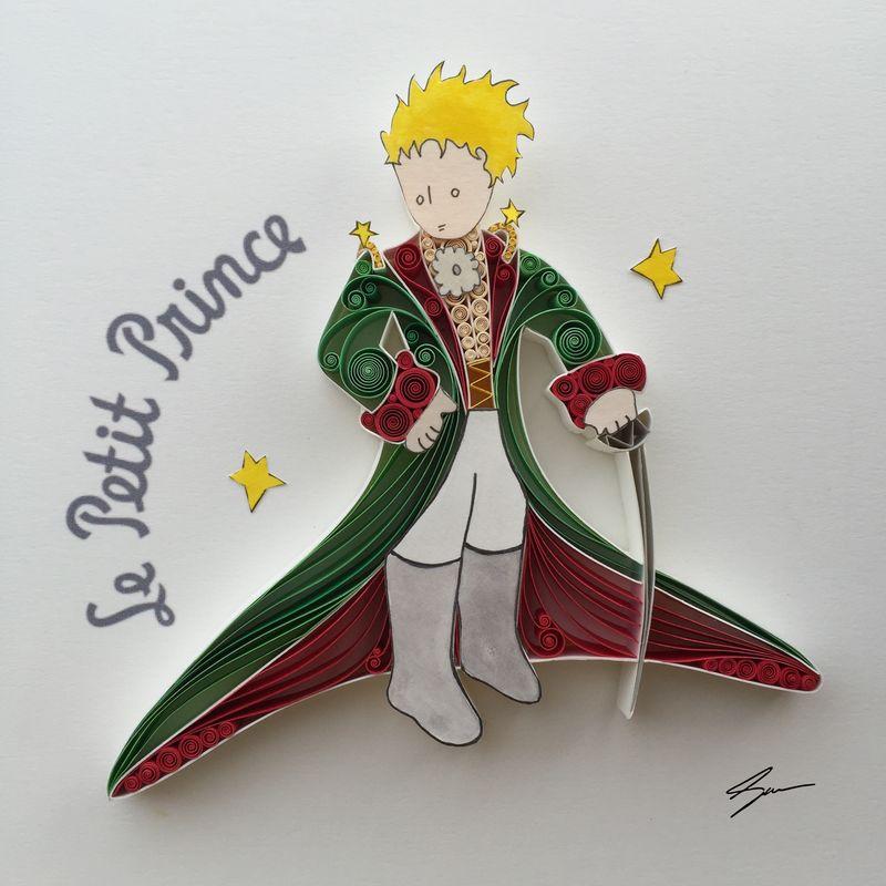 Sena Runa - Quilling, umění krouceného papíru, Le Petit Prince, Malý princ