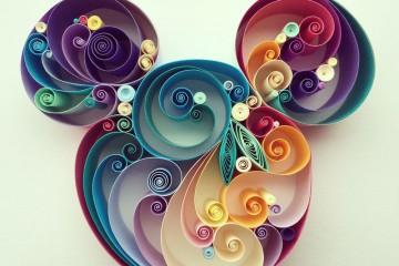 Sena Runa - Quilling, umění krouceného papíru, Disney, Mickey Mouse