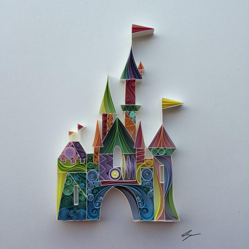 Sena Runa - Quilling, umění krouceného papíru, Disney
