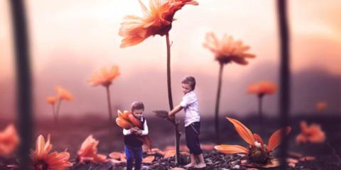 Gabe Tomoiaga bere své syny ve fotografiích na dobrodružství
