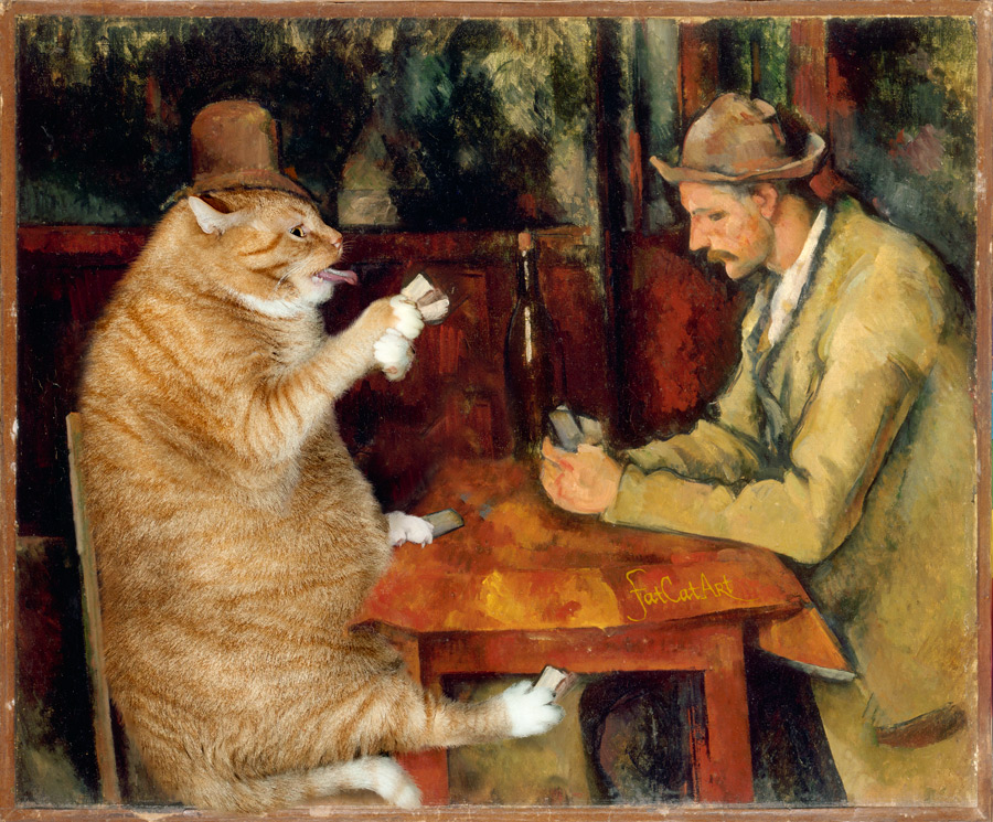 Cezanne-Cat-Card-Players-w