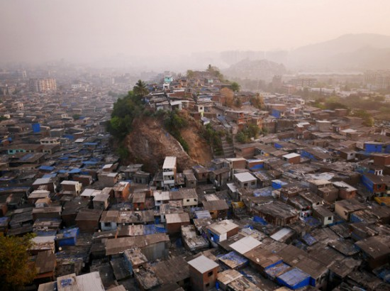 """Known to the locals as """"Hill 3"""" this knoll jutting above Mumbai's northern slums is no more valuable than the land below. Access to running water, which the hill lacks, is more valuable than any view."""