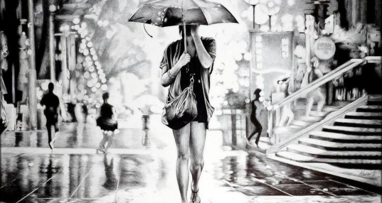 ballpoint_pen_drawing_poletaev_art_under_the_umbrella