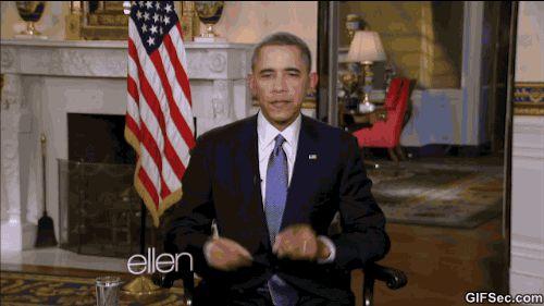 Americký prezident Barack Obama se odvázal při rozhovoru s Ellen. Je vidět, že tanec má v krvi.