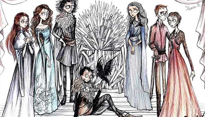 game-of-thrones-tim-burton-style-xenia-rassolova-4