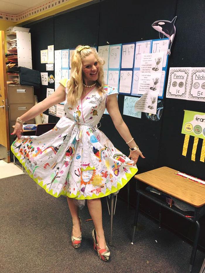 students-doodle-teacher-dress-chris-sharee-castlebury-pat-henry-elementary-2