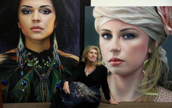 Christiane Vleugels u svých nádherných obrazů