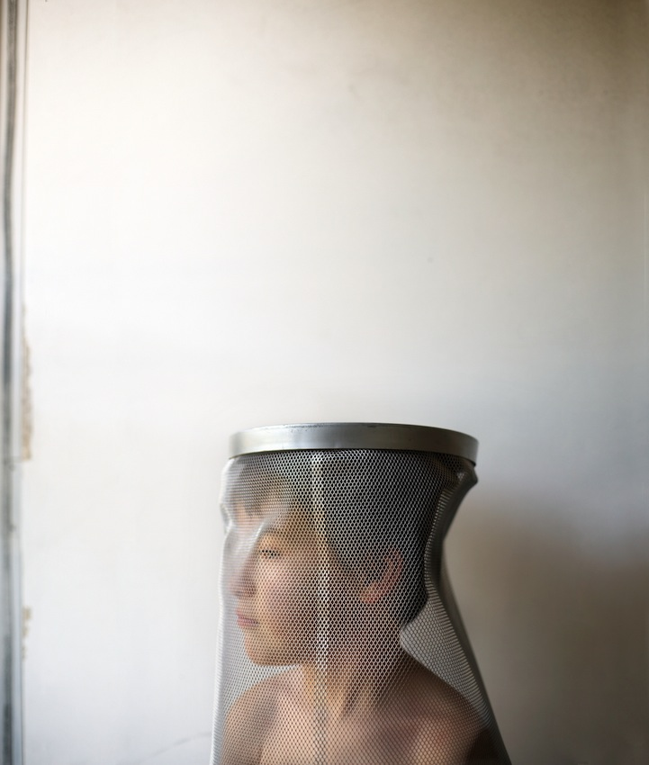 Timothy Archibald's son, Eli, poses for a photograph in their collaborative series about autism.