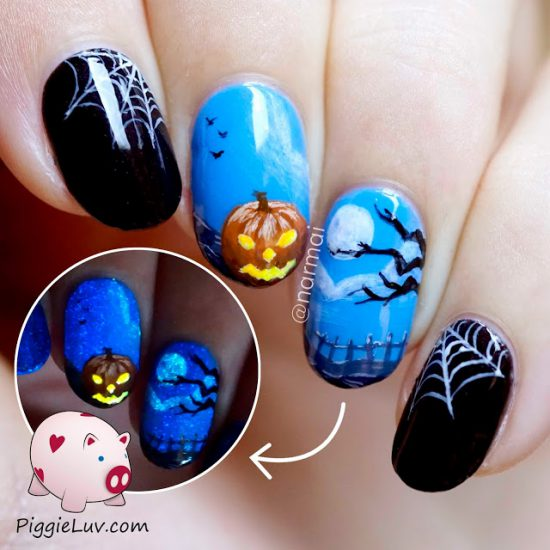 happy-halloween-glow-in-the-dark-nail-art-1