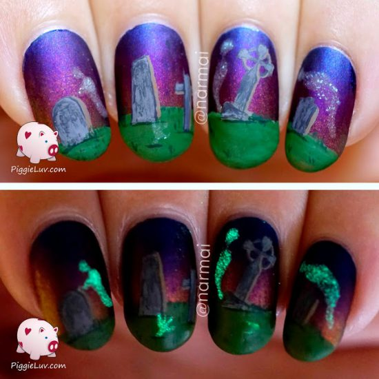 haunted-graveyard-glow-in-the-dark-ghosts-nail-art-for-halloween-1