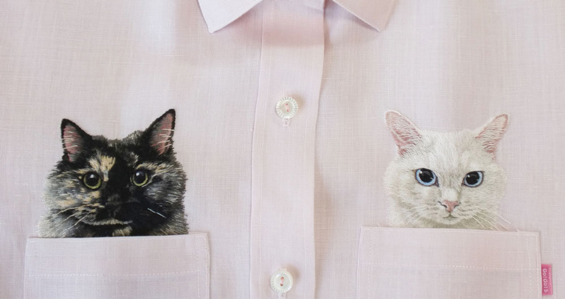embroidered-shirts-look-like-they-have-cats-in-their-pockets