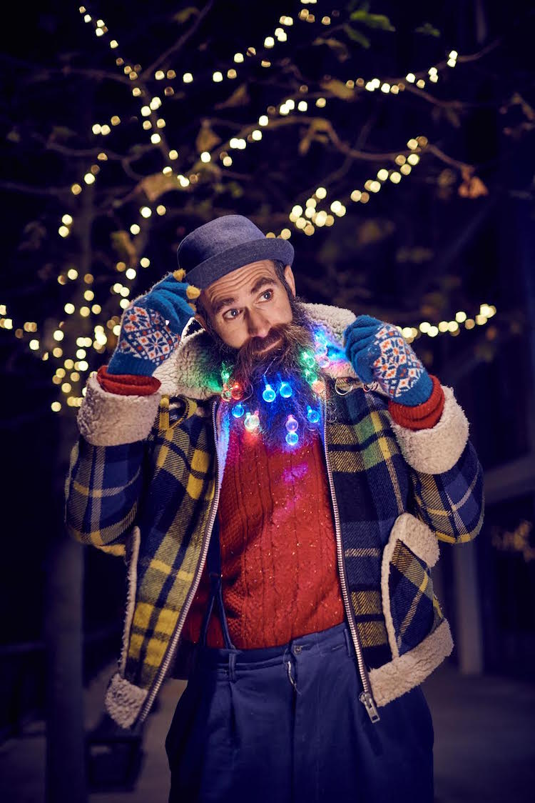 Forget beard baubles and glitter beards, hipsters now opting for twinkling fairy lights as the latest way to add an extra festive touch to chin fuzz in 2016's hottest Christmas trend. East Village E20 providing beard pimping service to gentlemen wanting to adorn themselves with the yuletide facial hair accessory at Christmas Makers Market on Sunday 11th December. For further information please contact the East Village team at Hope & Glory on 020 3588 9700 or at getlivinglondon@hopeandglorypr.com PR Handout - editorial usage only. Photographer's name must be kept as byline/credit metadata if distributed by agencies.??Copyright: © Mikael Buck / East Village